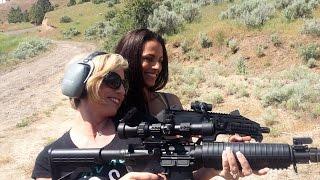 girls shooting cz scorpion 9 mm sbr armilite ar 15