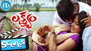 Lakshyam Movie Scenes - Gopichand and Anushka Love Scene