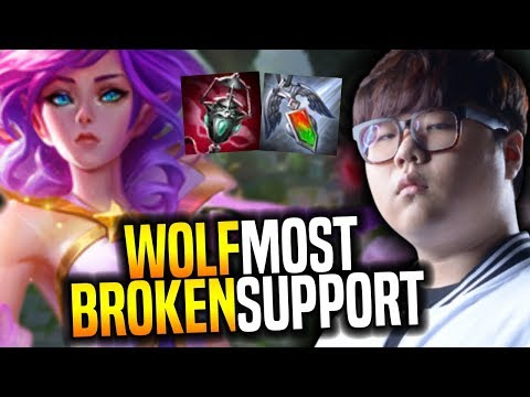Wolf Plays The Most Broken Support! - SKT T1 Wolf SoloQ Playing Janna Support! | SKT T1 Replays