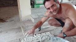 colocacion de suelo o pavimento  porcelanico