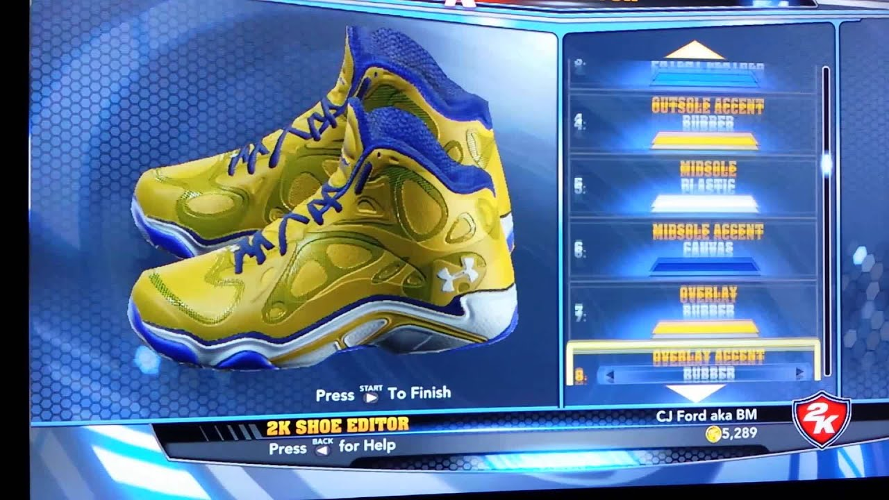 4e9c1b0e01e4 UnderArmour Anatomix Stephen Curry PE for NBA 2K14 - YouTube