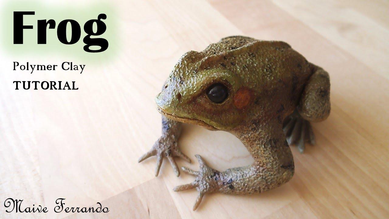 Polymer Clay Frog Sculpture Tutorial | Maive Ferrando - YouTube