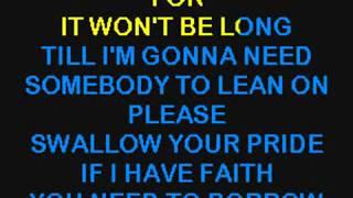 Club Nouveau - Lean On Me (1987) karaoke