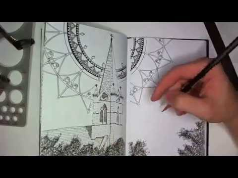 Drawing in my Book #23 (A Church Steeple)