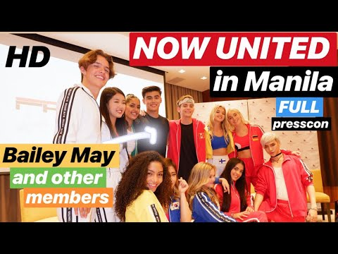 [HD] NOW UNITED members with BAILEY May are in Manila, Philippines! | Media Launch