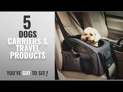 Top 10 Dogs Carriers & Travel Products [2018]: Dark Grey Car Seat Pet Foldable Travel Carrier for