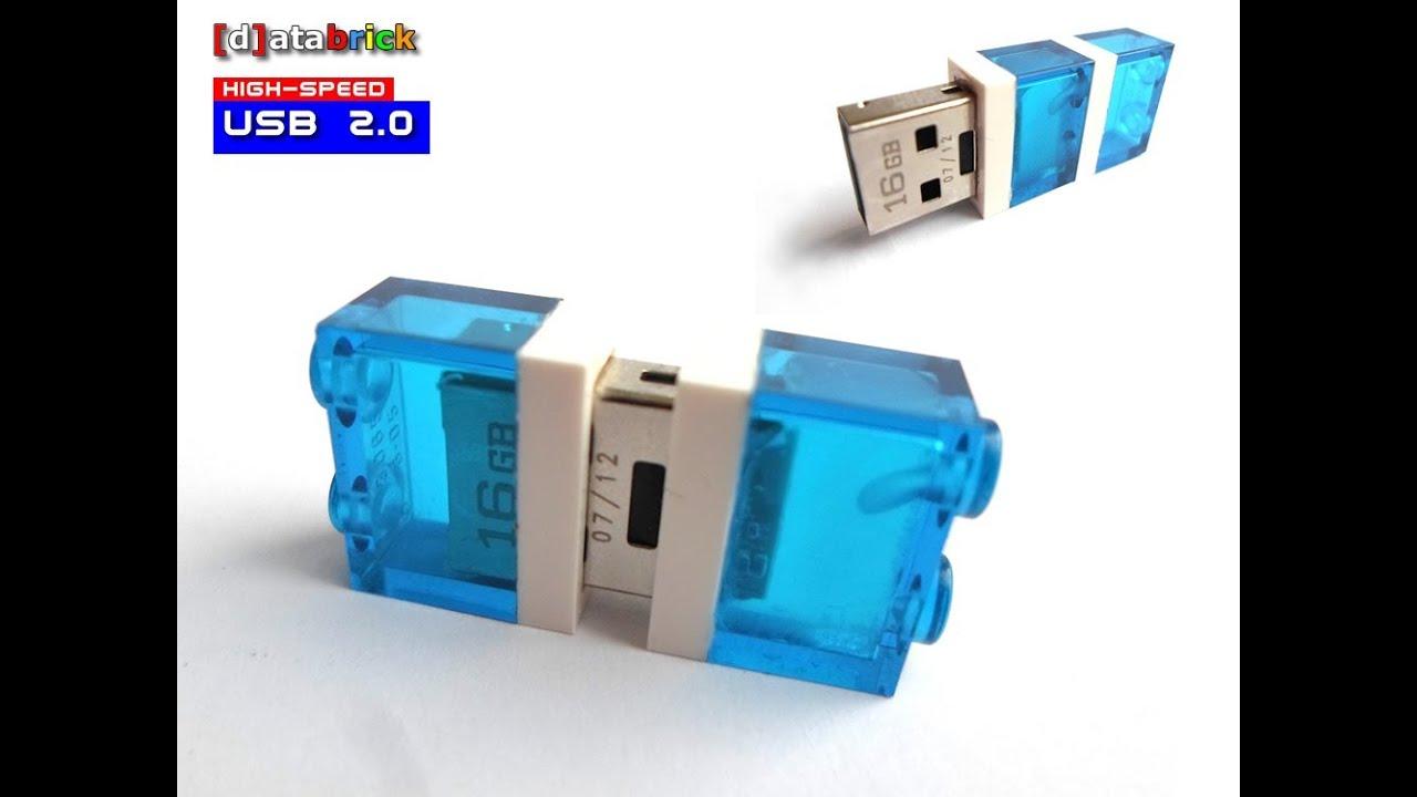 Mini USB Flash Memory Stick in Lego® 1x2 Brick with activity led ...