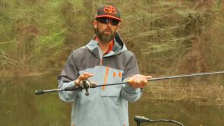 mike iaconelli selecting crankbait rods on the water
