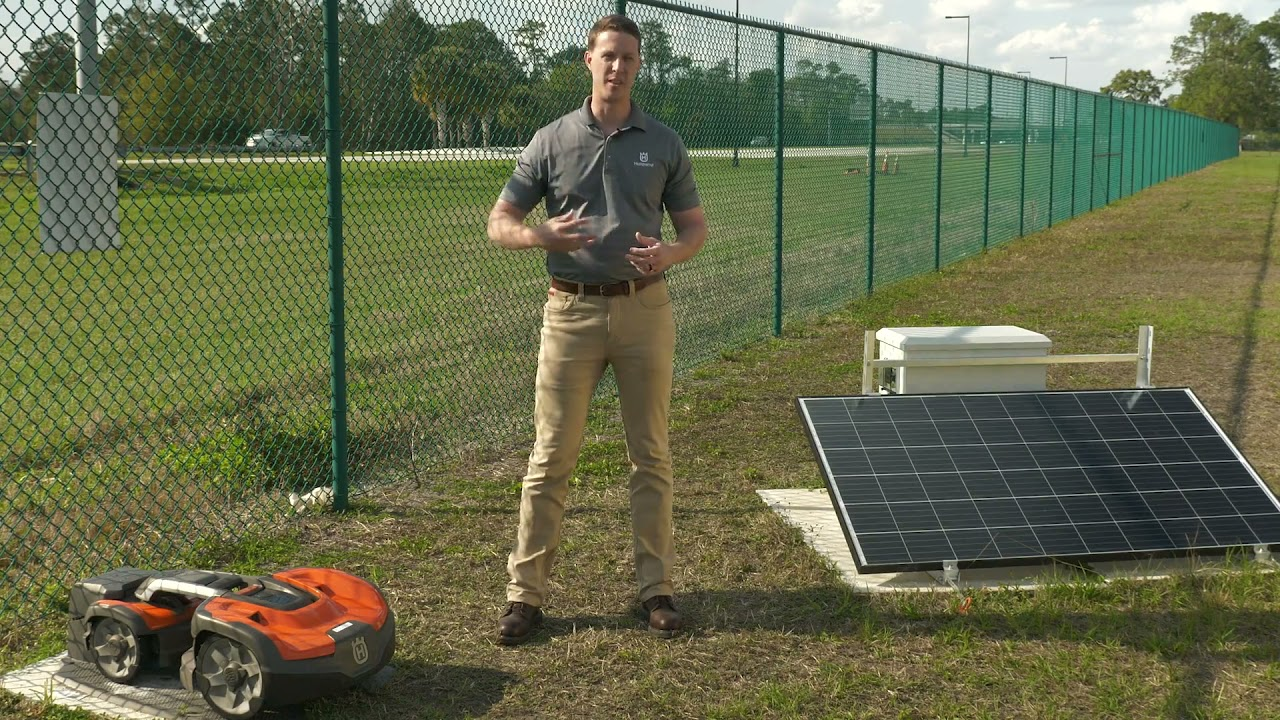 See the Automower® Solar Charger in Action | Husqvarna