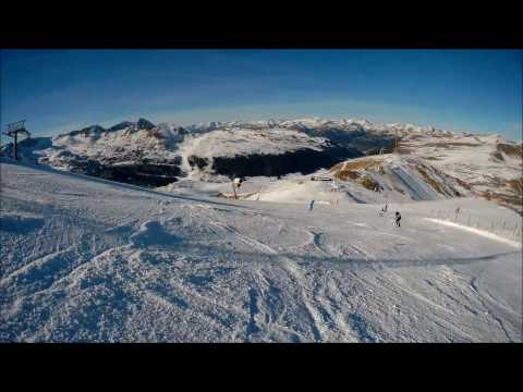Skiing from Soldeu to Pas. 12th December