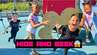 KIDS Play Hide & Seek Chase Tag At The Park!