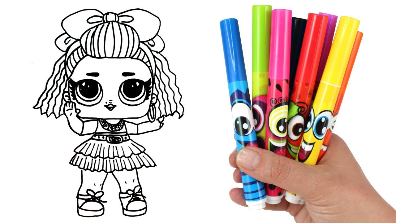 How To Draw Lol Doll 80s Bb Lol Surprise Under Wraps Doll Drawing And Coloring For Kids