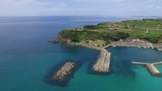 「新かごしま百景」に撰ばれた「上り浜・汐見の段々畑」島らしい漁港と...