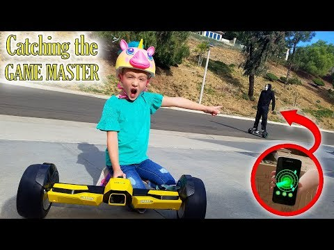 Game Master Found on Top Secret Spy Gadget! Chase on Worlds Fastest Hoverboard!