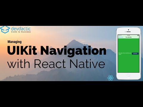managing uikit navigation with react native navigatorios youtube