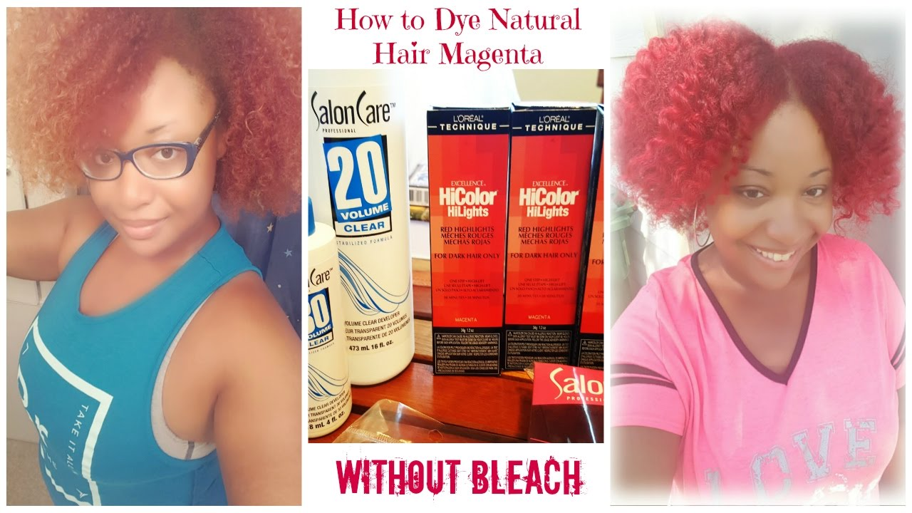 How To Dye Hair Red On Natural Hair