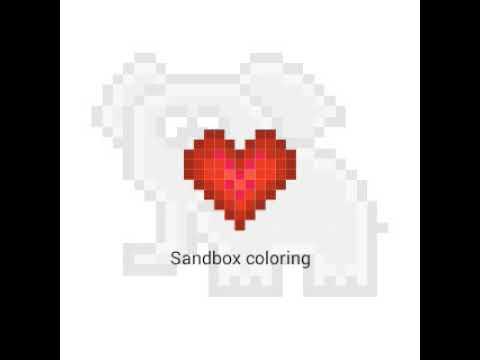"""Рисунки по номерам """"Sandbox"""" / 1часть./ СЛОНИК . - YouTube"""
