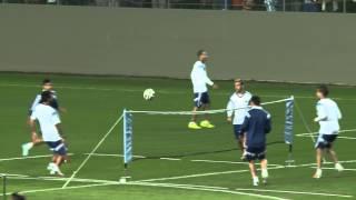 Futbol tenis: MESSI-DI MARIA-GAGO vs BIGLIA-AGUERO-LAVEZZI