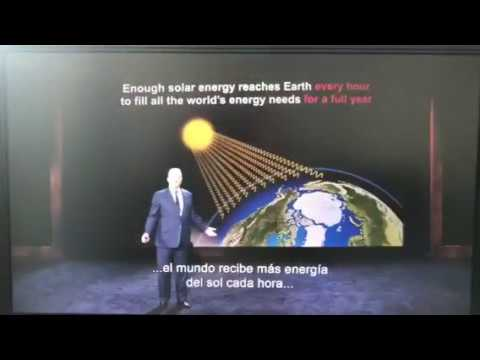 Al Gore elogiando la capacidad energética solar de Chile