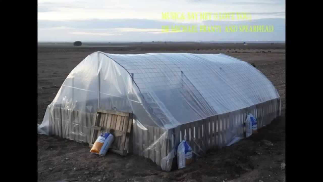 Ideas Palets Construccion De Un Invernadero Casero - Youtube