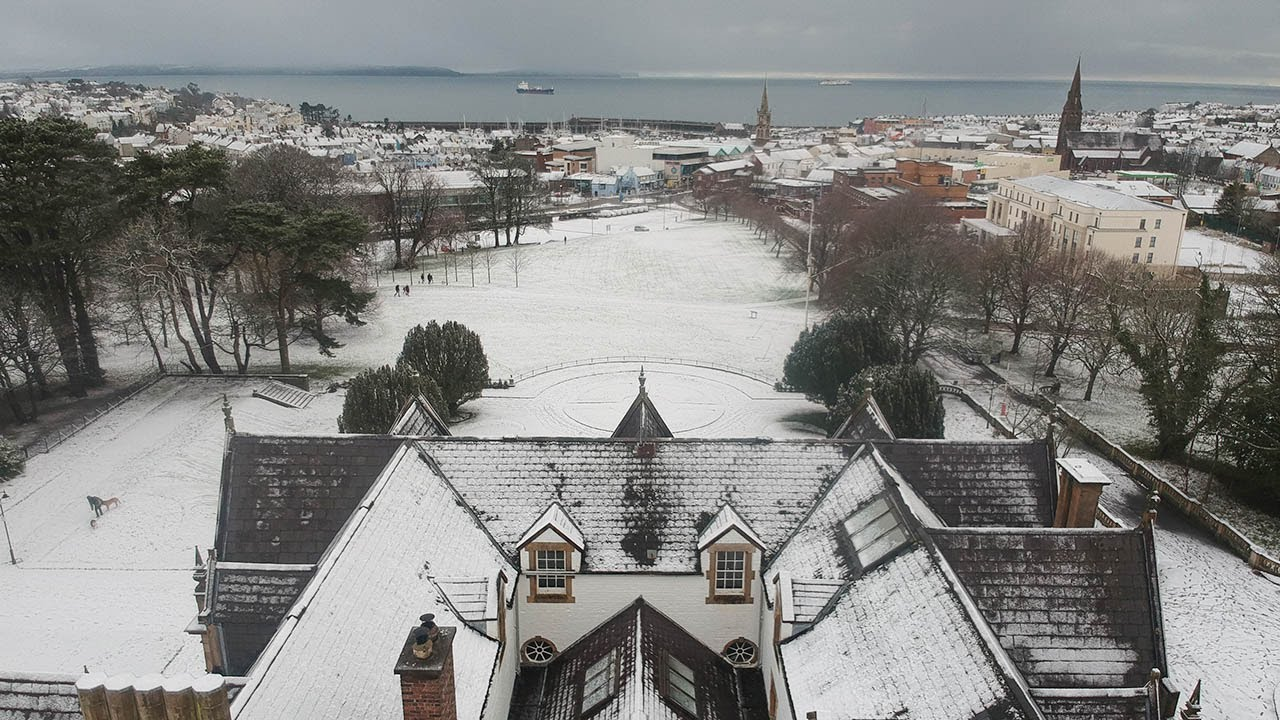 Snow in Bangor Northern Ireland (24th Jan 2021)