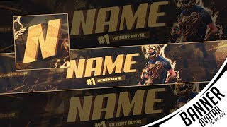 👑 Fortnite Banner & Avatar Youtube Template [FREE Download] - Photoshop | FOR 2,3K Subscribers 👑
