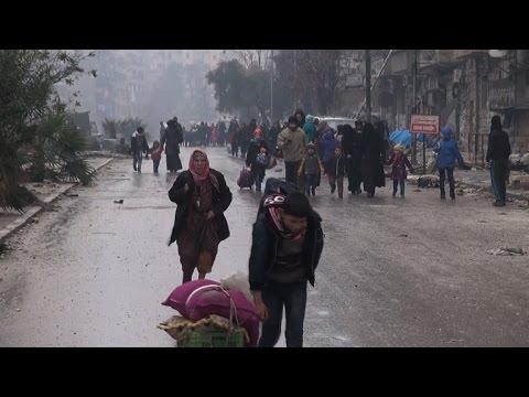Syria civilians leave rebel-held Aleppo areas for govt territory