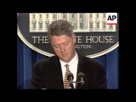 USA - Clinton On US/N.Korea Nuclear Pact Signing