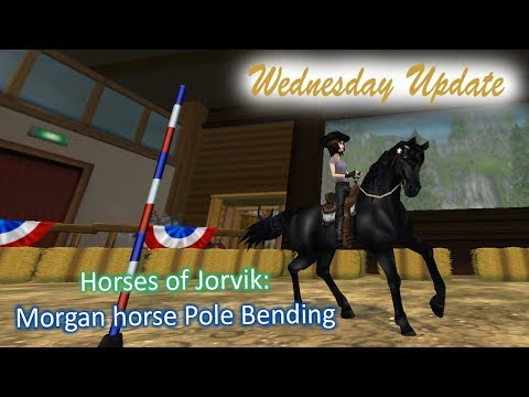 Star Stable Online; Wednesday Update ~ Horse of Jorvik - Morgan Horse Pole Bending
