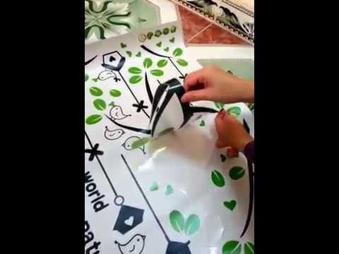 Cách dán decal dán tường, cách dán decal trang trí