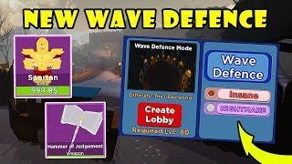 New Update!! WAVE DEFENCE Gamemode + New LOBBY Map | Dungeon Quest! [Roblox]