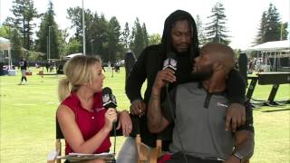 Marshawn Lynch Crashes the NFL Network Set at Raiders Training Camp   NFL