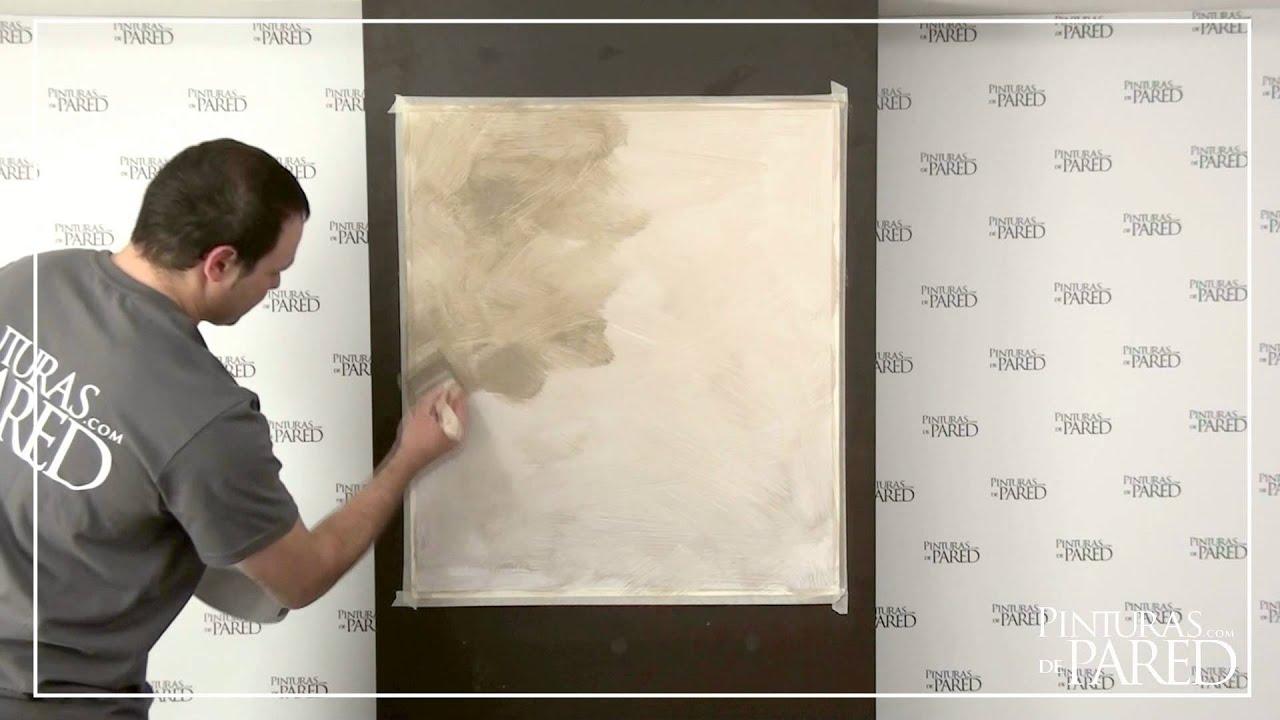 Aplicaci n arenas de zafiro pinturas de pared youtube - Pinturas especiales para paredes ...