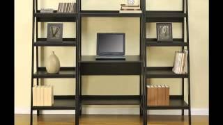 Altra Furniture Metal Frame Bundle Bookcase Ladder, Black,