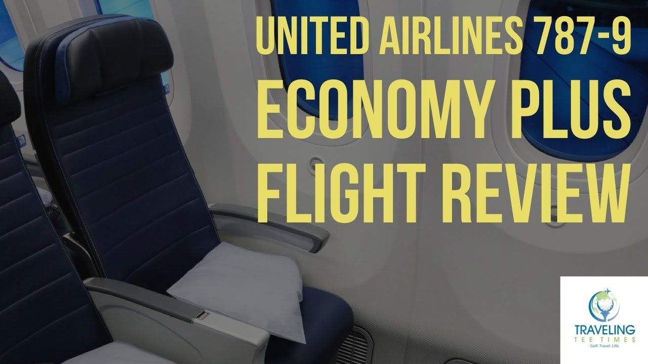 United Airlines 787 9 Economy Plus Lax To Nrt Traveling Tee Times