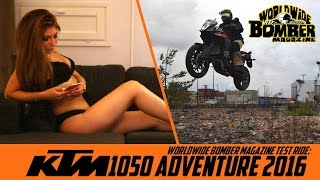 Bomber Babe booty call to KTM 1050 Adventure rider