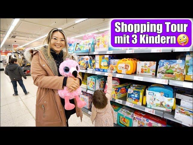 Shopping mit 3 Kindern im Spielzeug Paradies 🤪 Elisa singt & tanzt | Roller & Helm | Mamiseelen