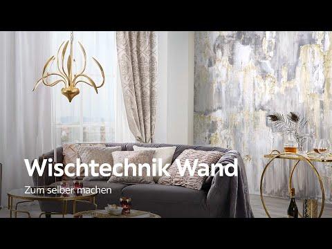 Wischtechnik für Wände - Wand malen Ideen - YouTube