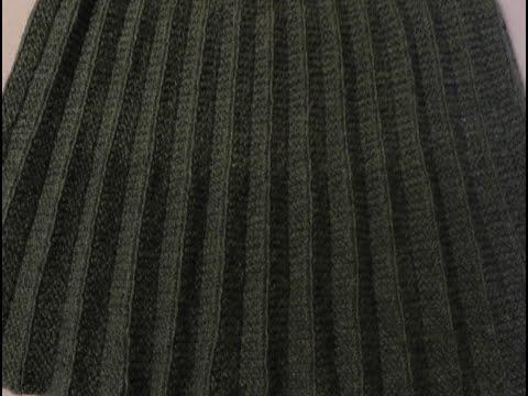 Вязание спицами для женщин юбки плиссе