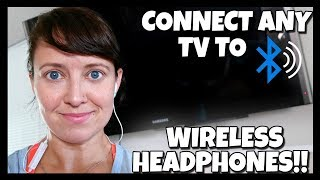 How to Connect Bluetooth Wireless Headphones to any TV 📍 How To With Kristin