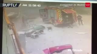 Момент взрыва на химзаводе в Испании