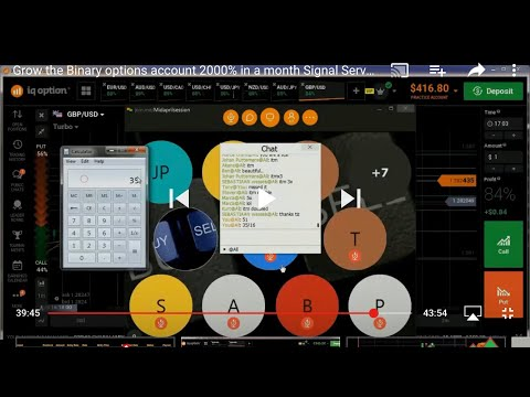 Grow the Binary options account 2000% in a month Signal Service Live Result