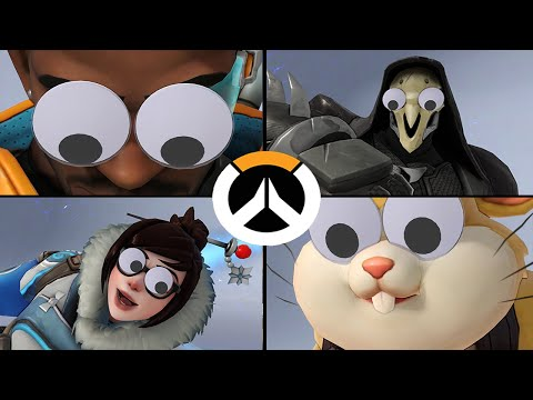 Overwatch - All Highlight Intros with Googly Eyes! April Fool's Day 2020