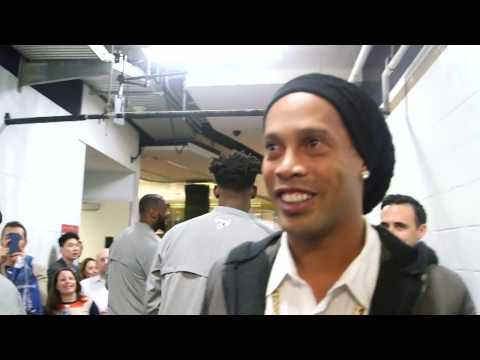 Ronaldinho Takes In NBA All Star Game 2017