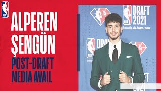 🏀 ALPEREN SENGUN POST-DRAFT MEDIA | Reaction from the first Turkish player drafted since 2016