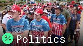 Masks Are a Rare Sight as Thousands Flood Tulsa for Trump Rally