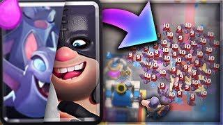 קלאש רויאל - אקסקיושנר אחד נגד 200 עטלפים!!!