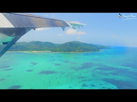 Der Flug von Mahé nach Praslin