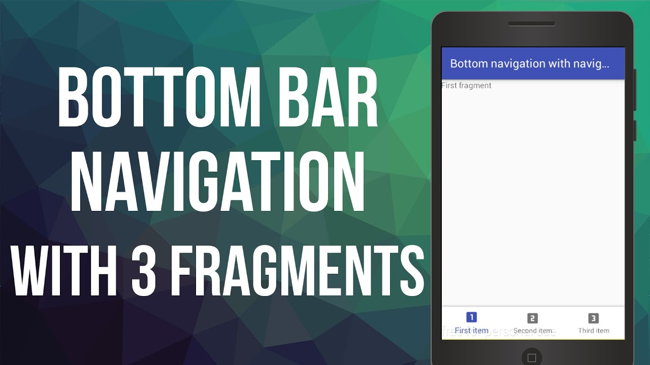 how to create a navigation bar in android studio