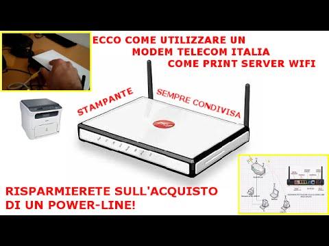 Configurare un modem Alice come Print Server via Wifi (Guida per stampanti LAN)